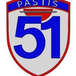 51.jpg Télécharger fichier STL gratuit Ecusson Pastis 51 • Plan imprimable en 3D, ManonPRD