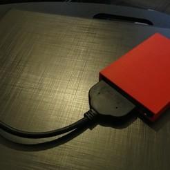 Impresiones 3D gratis Carcasa de disco duro SATA de 2,5 pulgadas, bleblet