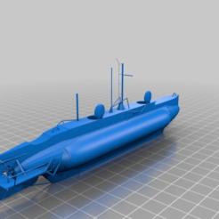 Télécharger fichier STL gratuit Sous-marin d'artisanat X, bleblet