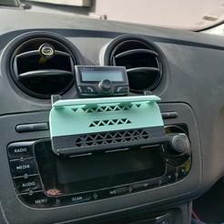 IMG_20201028_121336.jpg Télécharger fichier STL Support téléphone voiture lecteur CD/ Car phone mount CD reader • Design pour impression 3D, Cocodums