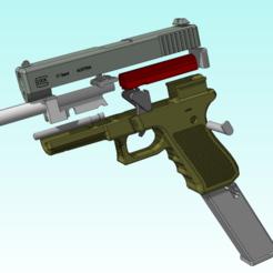 Glock éclaté.PNG Download STL file Glock 17 replique/replica spring • Design to 3D print, corentindumas06
