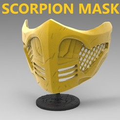22.jpg Download STL file Scorpion Mask (covid19) • 3D print design, freeclimbingbo