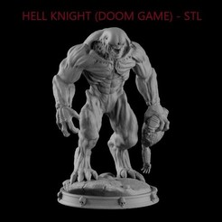TITLE1.jpg Download STL file HELL KNIGHT (DOOM) • Template to 3D print, freeclimbingbo
