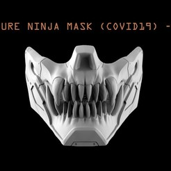 TITLE.jpg Download STL file Future Ninja Mask • 3D printer template, freeclimbingbo