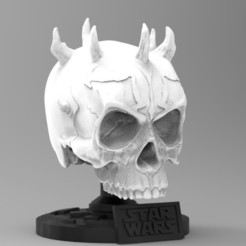 34.jpg Download STL file DARTH MOUL SKULL (mini) • Design to 3D print, freeclimbingbo