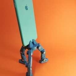 1W4muYUPCVs.jpg Download STL file Tripod for Smartphone • Template to 3D print, freeclimbingbo