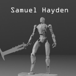 untitled.385.jpg Download STL file Samuel Hayden (DOOM ETERNAL) • Object to 3D print, freeclimbingbo