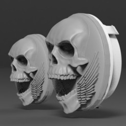 untitled.334.jpg Download STL file Skull Amblem (VolksWagen) • 3D printable model, freeclimbingbo