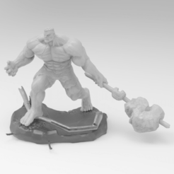 Download STL Hulk - 3d STL file, freeclimbingbo