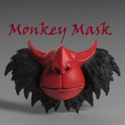 Title.jpg Download STL file Monkey Mask • 3D print object, freeclimbingbo
