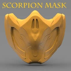 title.jpg Download STL file SCORPION MASK (MORTALKOMBAT) • 3D print object, freeclimbingbo