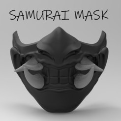1.jpg Download STL file SAMURAI MASK (COVID19) • Template to 3D print, freeclimbingbo