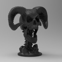 213.jpg Download STL file DEMON SKULL • 3D printable object, freeclimbingbo