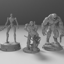 13.406.jpg Download STL file Doom Eternal Figure Collection • 3D printer object, freeclimbingbo