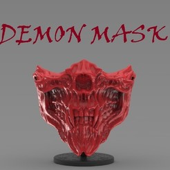 untitled.94.jpg Download STL file Demon Mask (Covid19) • 3D printing design, freeclimbingbo