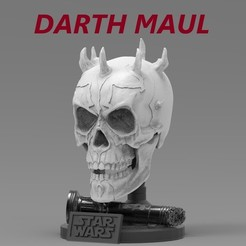 311.jpg Download STL file DARTH MAUL SKULL • 3D printable template, freeclimbingbo