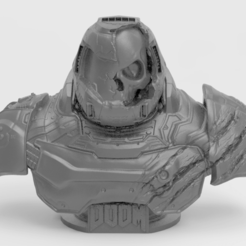 24112.png Download STL file DOOM SLAYER skull • 3D printer design, freeclimbingbo