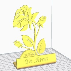 Download free STL file Rose I Love You - Rose • Object to 3D print, mike21mzeb