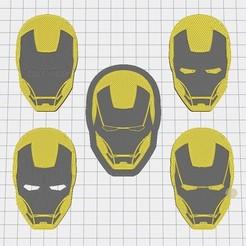 Ironman_Heads_03.jpg Télécharger fichier STL gratuit Tête d'Iron Man • Plan pour imprimante 3D, mike21mzeb