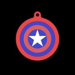 Descargar archivos 3D gratis Llavero Capitan America, mike21mzeb