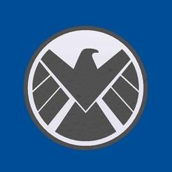 Shield.jpg Télécharger fichier STL gratuit Logo du bouclier - Agents of SHIELD - Posavasos Agentes de SHIELD • Modèle pour imprimante 3D, mike21mzeb
