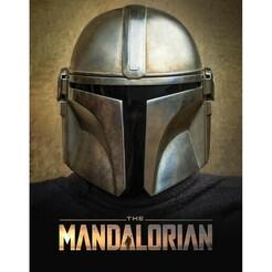 mandalorian.jpg Download free STL file mandalorian 2D earing helmet - key chain - key ring • 3D printable design, mike21mzeb