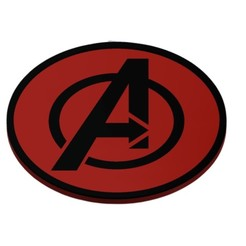 "Download 3D printer templates Coaster Avengers ""LOGO"", mike21mzeb"