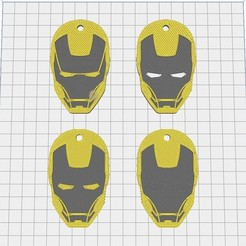 Télécharger fichier STL gratuit Llavero Iron Man • Plan pour imprimante 3D, mike21mzeb