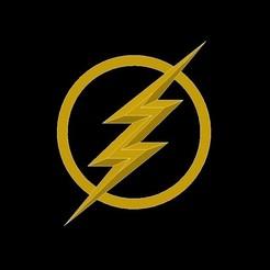Download free STL files Logo Flash, mike21mzeb