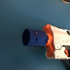 IMG-1469.jpg Download OBJ file Nerf rival silencer  • 3D printer design, Ezrarosenfeld