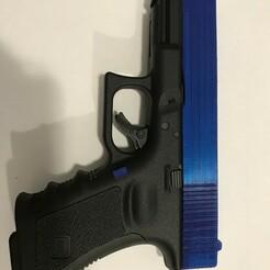 IMG-4754.jpg Download STL file Glock 19 Umarex Airsoft Slide And Magazine Release Replica, Fully Functional Customization Kit • 3D printer model, Ezrarosenfeld