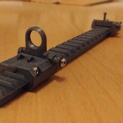 00.jpg Download STL file NERF Picatinny rail sights • 3D print model, Shruikan-Arts