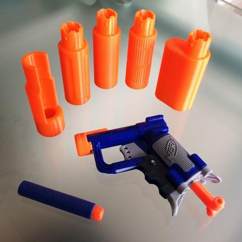 Imprimir en 3D Silenciador de sacudidas NERF V2, Shruikan-Arts