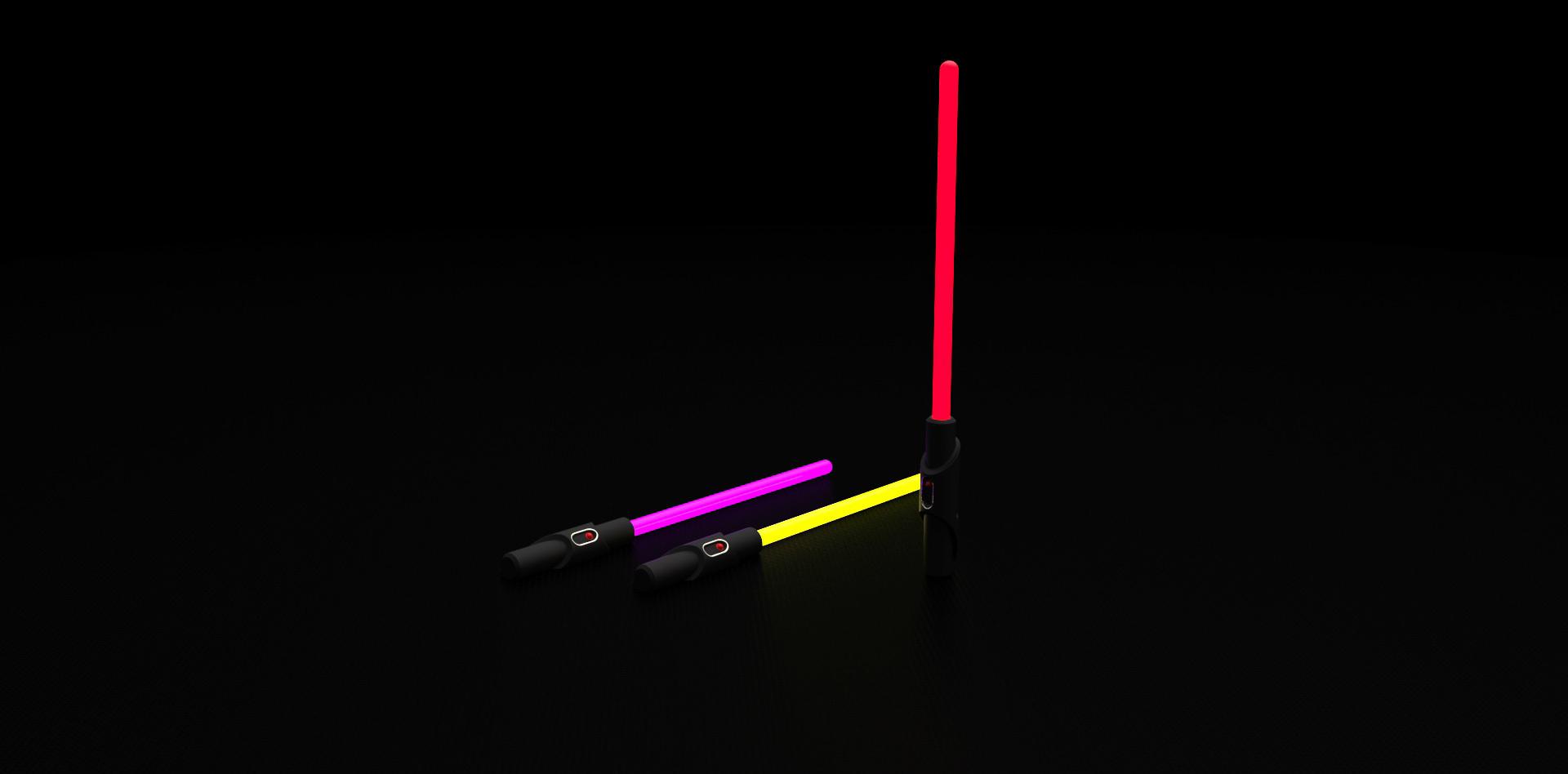 render.jpg Download free STL file Glow Stick Saber • 3D printer object, Shruikan-Arts