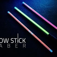 glow_stick_deckblatt.jpg Télécharger fichier STL gratuit Sabre à bâton lumineux • Objet à imprimer en 3D, Shruikan-Arts