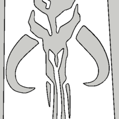 Télécharger fichier STL Stencil Mandalorian, Vincent-3D