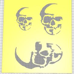 Download STL stencil skull 02, Vincent-3D