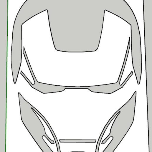 Audacieuse Download STL file stencil iron man 03 • 3D print design ・ Cults FH-44