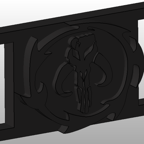Free 3D printer files Mandalorian buckle, Vincent-3D