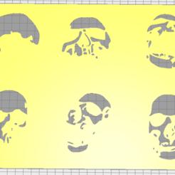 Download 3D printer files stencil skul 01, Vincent-3D