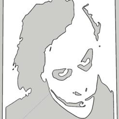 Download 3D printer files Stencil Joker 01, Vincent-3D