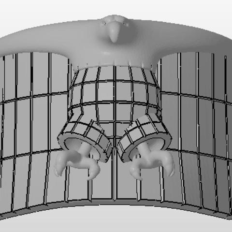 Download 3D printer designs Judge Dredd epaulette, Vincent-3D