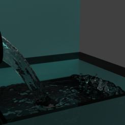Download free 3D printing templates 3D blender water simulation animation model, Ankita85
