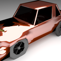 Download free 3D printing models Car 3D model made by blender, Ankita85