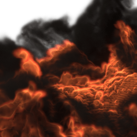 Free STL Fire simulation made by blender, Ankita85