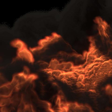 Télécharger fichier imprimante 3D gratuit Simulation d'incendie par mélangeur, Ankita85