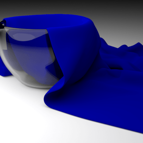 Download free STL files Cloth Simulation by blender3D, Ankita85