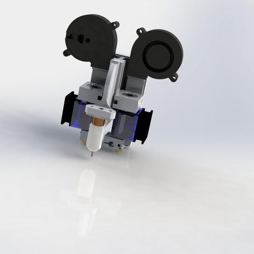 Télécharger fichier STL gratuit double transport e3d v6 pour prusa/anet a8 mk2 • Plan à imprimer en 3D, vingautmobile