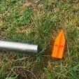 Free STL file Ground holder for garden solar lamp 30mm, fidak45