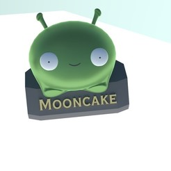 Rend_1J.jpg Download STL file Final Space MoonCake with stand • 3D printable template, NikolayTr